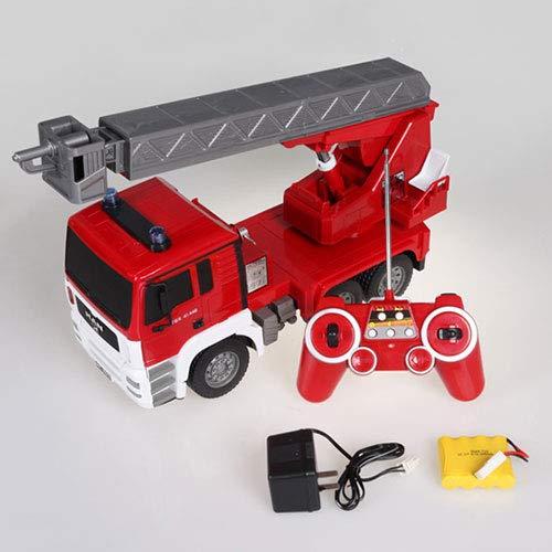 ernbedienung Feuerwehrauto 2,4 Ghz Drahtlose Feuerwehrauto Feuer Leiter Lkw Simulation Elektrische Pädagogische Kinder Spielzeug Mit Sound Wassertank Wasser Spray Für Jungen Mädchen ()