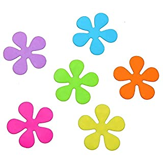 Sanixa PA70808 Premium Anti-Rutsch Sticker Blumen bunt | Für Wanne & Dusche | Antirutsch Aufkleber Saugmatte Duschmatte Badewannen-Matte