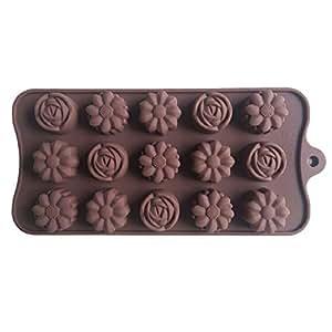 Karen Baking Rosa Tipo di fiore focaccina dolce della gelatina della caramella della torta del fondente di cioccolato muffa del silicone strumento vaschetta di cottura