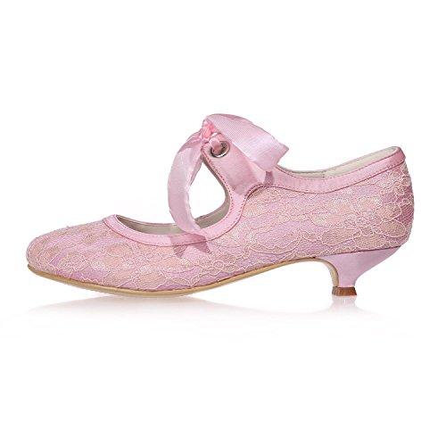 L@YC Chaussures De Mariage Pour Femmes En Soie / Dentelle Party Night 9001-05 Court Shoes / Plus De Couleurs Disponibles white