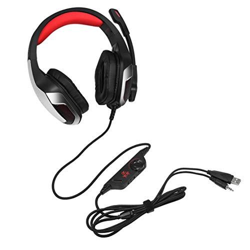 V4 Hunterspider Noise Isolating Kopfhörer-Headset Komfortable Over-Ear-Stereo-Musiktelefone PC Computer Gaming-Kopfhörer (Farbe: Schwarz & Rot) Sound Isolating Stereo