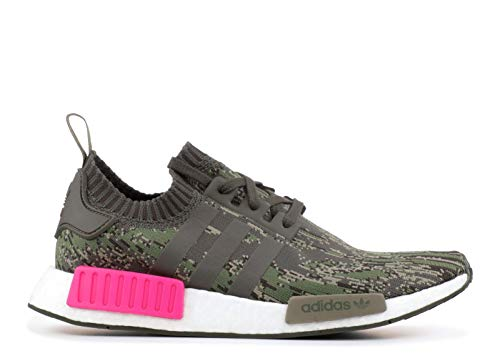 adidas Originals NMD_R1 Pk Mens Running Trainers Sneakers Shoes Prime Knit (UK 10.5 US 11 EU 45 1/3, Utility Green pink BZ0222) - Adidas Skate-schuhe