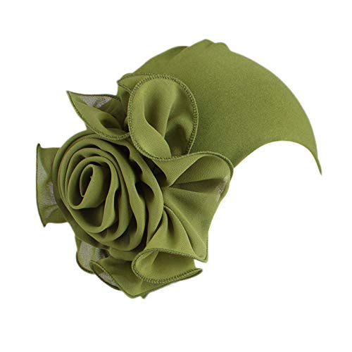 Saingace(TM)Hüte Damen Kopftuch Muslim Ruffled Mütze Stylish Multifunktionstuch Kopfbedeckung Retro große Blumen-Hut-Turban-Rand-Hut