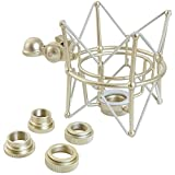 KEEPDRUM Multispinne für verschiedene Mikrofone Mikrofon-Spinne mit Wechseladapter