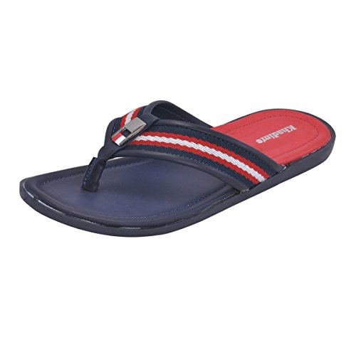 Khadim's Men's Faux Leather Slippers - 7