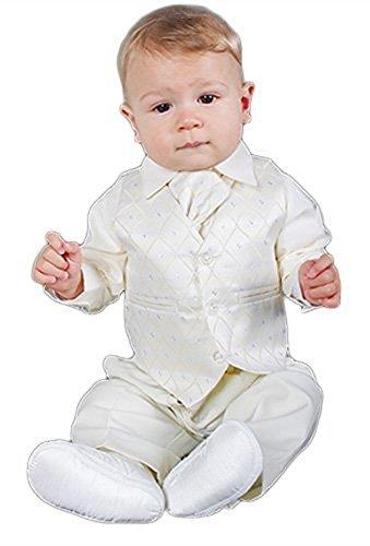 Aryan Baby Jungen Anzug Elfenbein cremefarben 7 Jahre