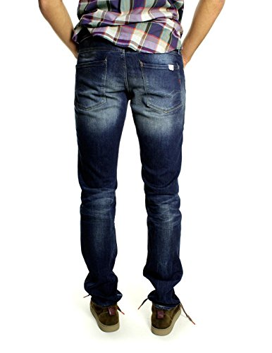 Replay-Pantaloni Slim Jeans da uomo Anbass Blu (Blue Denim 9) 30W x 34L