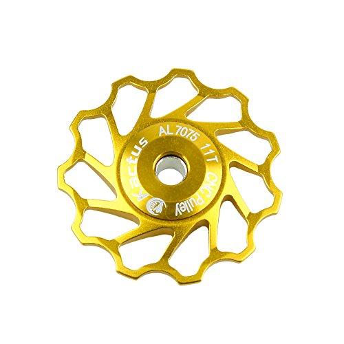 niceEshop(TM) Kactus Aluminium Schaltungsrädchen Schaltwerk Riemenscheibe Shimano Sram (Gold) -