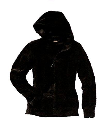 Giacca in pile con cappuccio, da uomo, con sogno benda Soffice-interno morbido, colore nero, AM-DA - Fleecepull-crivits-2980-S