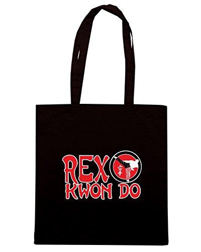 T-Shirtshock - Borsa Shopping TAM0155 rex kwon do dark tshirt Nero