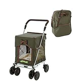 Petmobil (LARGE) Combination Set by Sholley in Three Colours, Folding, Strong & Stable Pet, Dog Stroller, Transporter… 16