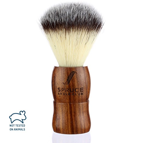 Spruce Shave Club Genuine Wood Shaving Brush - Imitation Badger Hair