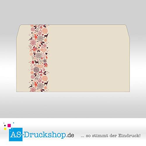 Briefumschlag Weihnachten - Rentier-Mix/Din Lang / 10 Stück