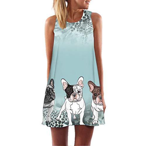 MRULIC Damen Mini Kleid A-Linie Kleider Chinesisches Klassisches Kleid mit Rosen und Pflaumenblüten Blusenkleid Party Lange Oberteile(Y8-Grün,EU-42/CN-L)