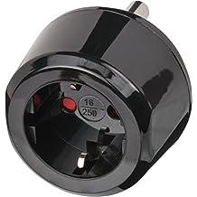 Brennenstuhl Reisestecker Adapter, Steckdosenadapter Reise (Für: Südafrika & Indien Steckdosen und Euro Stecker) Farbe: schwarz