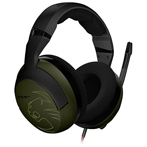 ROCCAT Kave XTD Camo Charge Stereo Premium Over-Ear Gaming Headset (50 mm Speaker, abnehmbares Mikrofon, 2 x 3,5 mm Klinke)