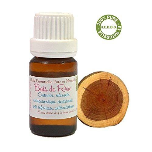 Olio essenziale di legno di rosa (Palissandro / Bois de Rose) 10ml - Olio essenziale naturale al 100% - spedizione offerta