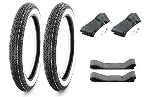 Weisswand Reifen Set SAVA - Mitas - 2 3/4-2,75 x 17 - für ZÜNDAPP Mofa (5) inkl. 2 Schläuchen und 2 Felgenbändern