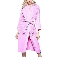 Bata de Microfibra Unisex Adultos en Diferentes Colores Pijama Ropa con Dormir Longitud Albornoz