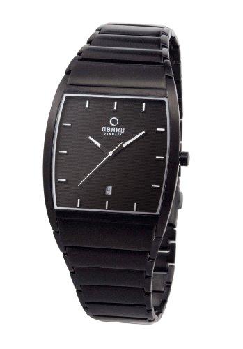 Obaku Harmony - Reloj analógico de cuarzo para hombre con correa de acero inoxidable, color negro