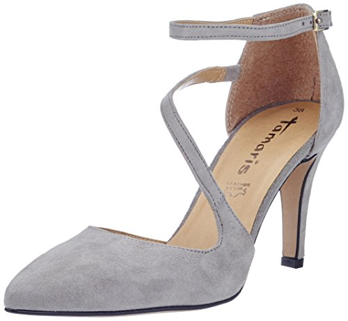 Tamaris Damen 24423 Pumps, Grau (Grey 200), 39 EU
