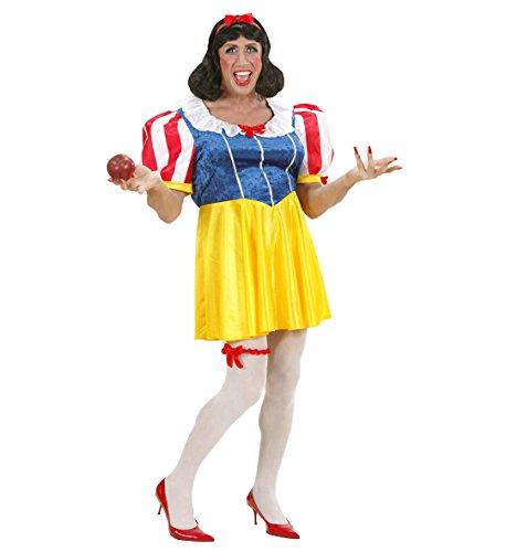 Schneewittchen Männerkostüm Drag Queen Kleid Perücke Haarreifen Strumpfhose Strumpfband Junggesellenabschied Fasching Karneval (Schuhe Schwarz-erwachsene Strumpfband)