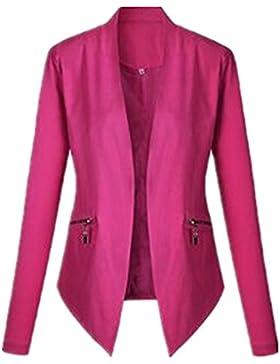 Tayaho Cappotto Manica Lunga Donna Autunno Inverno Outwear Puro Colore Ufficio Casual Giacca Semplice Classico...