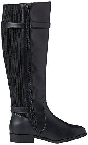 New Look Damen Wide Foot Egerton Reitstiefel Schwarz (Schwarz)