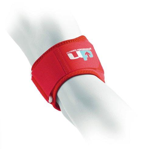 Ultimate Performance Ellenbogenbandage, zur Verwendung bei Tennisarm/ Golferarm (Epicondylitis), Rot, Einheitsgröße