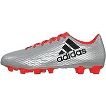 adidas X 16.4 FxG, Botas de fútbol para Hombre, Plata (Plamet/Negbas