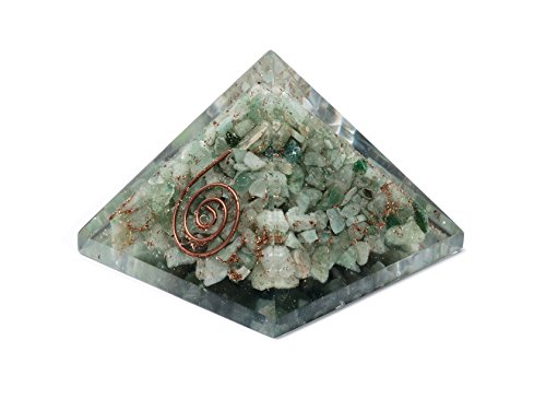Aventurine pietra Orgone Piramide Energy Generator Reiki Orgonite guarigione di cristallo