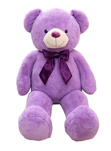 Vercart - orso di peluche gigante, bella idea regalo, stile gentleman, colore lilla, 80-160 cm
