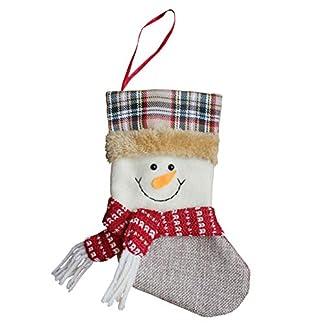 EdBerk74 Precioso árbol de Navidad Adornos Suministros Tela no Tejida Forma del calcetín niños Bolsa niños Caramelo Bolsa