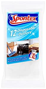 Spontex Disposable Dusters x 12 (Pack of 8, Total 96 Dusters)
