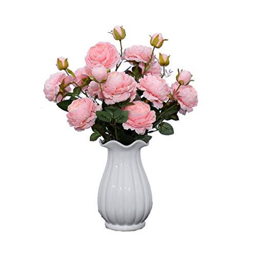 ADLFJGL Kunstblumen Im Topf,Brautblumenstraußwohnzimmerdekoration Der Künstlichen Blume Der Pfingstrosenblume Künstliche Blume Gefälschte