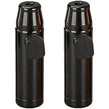 saihui rapé diseño con forma de bala de metal 2 pcs Nueva Sniffer Mini FUMAR nariz