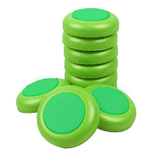 Refill Disc Dart,BEETEST 50 STÜCKE EVA Weiche Kinder Spielzeugpistole Refill Disc Kugel Darts für Nerf Vortex (Disc Nerf)