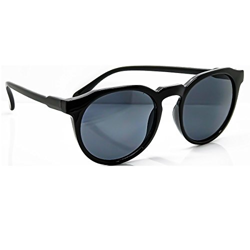 Occhiali da sole KISS® - stile MOSCOT mod. SMOOTH Johnny Depp - tondi VINTAGE uomo donna CULT unisex - NERO