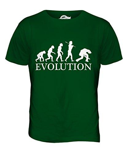 CandyMix Chitarra Elettrica Evoluzione Umana T-Shirt da Uomo Maglietta Verde bottiglia