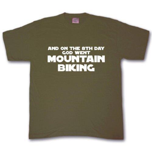 an der 8th tag Gut went Mountain radfahren T-shirt Olivgrün