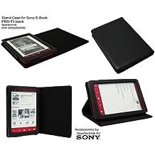 Negro Funda para Sony PRS-t3–Funda de transporte, Etui para E-Book PRS T3con función de suspensión, color negro