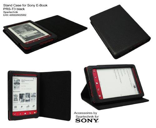 Schwarzes Case für Sony PRS-T3 - bestes Case Hülle Etui Tasche für Sony E-Book Reader Elektronisches Buch mit Schlafmodus Funktion und integriertem Ständer für PRS T3 - schwarz - Ebooks Reader Für Sony