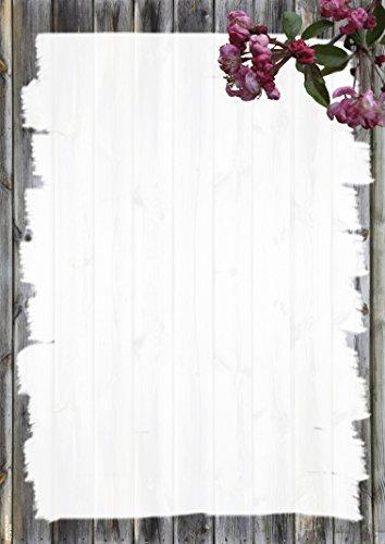 Briefpapier Kirschblüte, 50 Blatt DIN A4, 90 g/m², DP893, Schreibpapier, Geburtstag, Einladung, Brief, Jubiläum, Danke, Blumen, Brief schreiben, Liebesbrief, Frühling, Kirsche