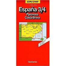 Carte routière : Espagne - 3/4 Pyrénées - Costa Brava