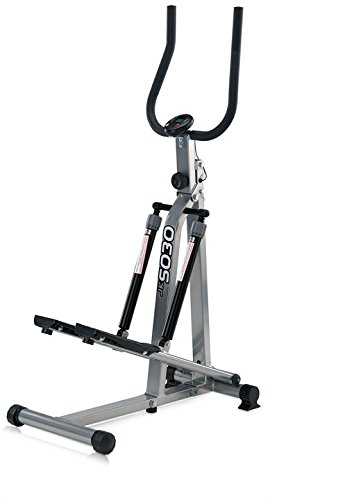 JK Fitness 5030 Stepper Richiudibile, Argento/Nero