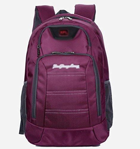 GBT 14-Zoll-Laptop-Tasche Aus Wasserdichtem Nylon Freizeit- Und Geschäfts(Im Freienbeutel, Handtasche, Schulterbeutel, Rucksack, Mappe, Kosmetischer Beutel, Brett, Multifunktionspaket) Purple