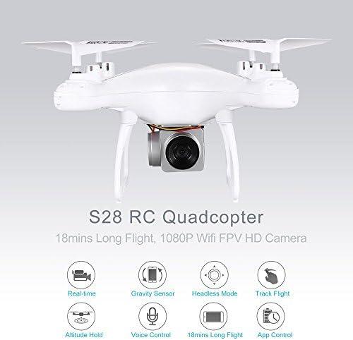 Jasnyfall S28 RC Drone 2.4G Selfie Quadcopter Aéronef avec 1080p 1080p 1080p HD WiFi FPV Caméra Altitude Tête sans tête 3D Flip 18min Long vol | Soyez Bienvenus En Cours D'utilisation  4d52c5