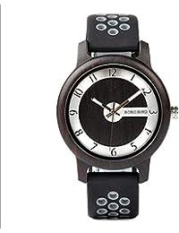 BOBO BIRD Reloj Hombre Banda de Silicona Mujer de Cuarzo Reloj Movimiento de Japón con Caja