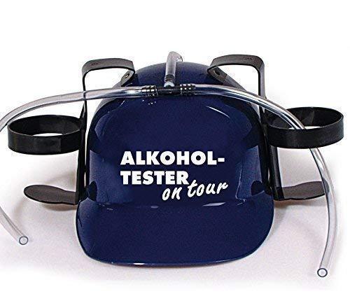 Trinkhelm Spaßhelm mit Print - Alkoholtester on Tour - 51630 Farbe blau