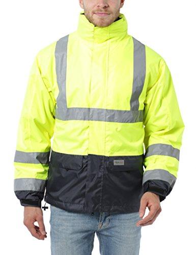Ultrasport Workwear Sicherheitsjacke mit Warnschutz Ausrüstung, mit herausnehmbarer Fleece Jacke, 3XL